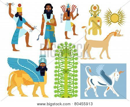 Babylonian gods, creatures and symbols