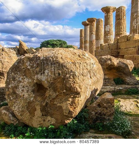 Temple Of Heracles, In Agrigento