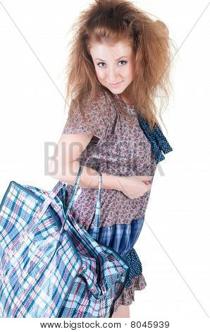 Woman With Shopping Bag.