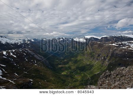 Picture taken 1500 m.o.s from a mountain peak named; Dalsnibba
