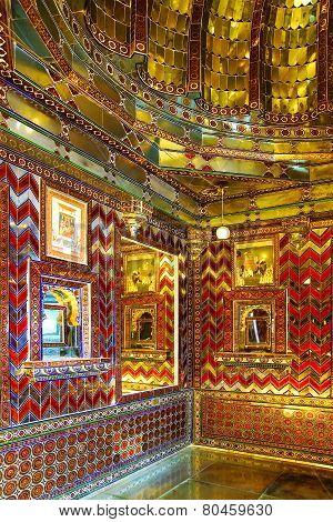 Interior Of Udajpur Palace. Udajpur, India.