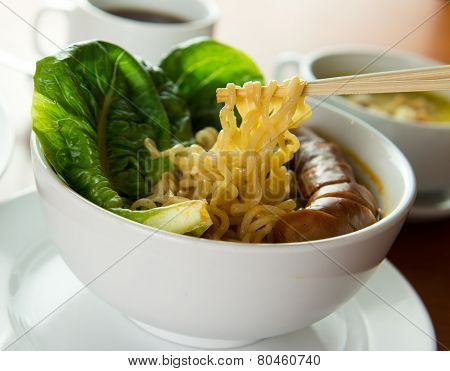 Korean Noodles Soup