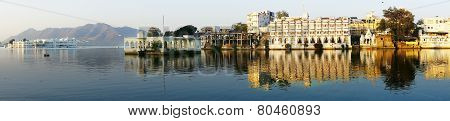 Pichola Lake And Palas. Udajpur, India.