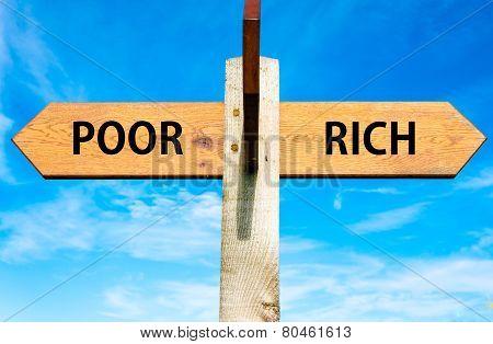 Poor versus Rich messages