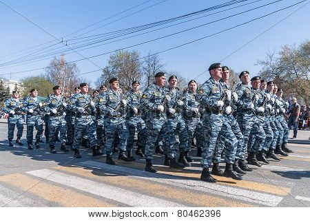 Police special troop on parade