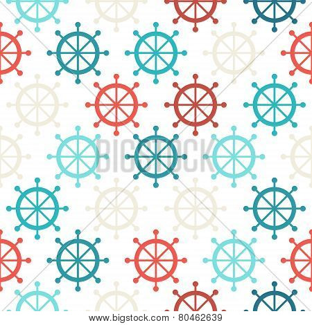 Steering Wheel Seamless Pattern.