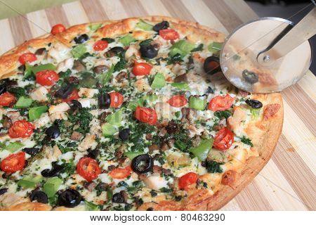 Mediterranean Style Pizza