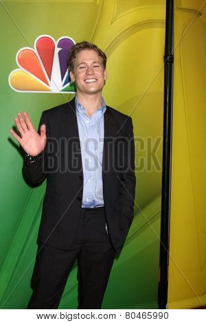 LOS ANGELES - DEC 16:  Gavin Stenhouse at the NBCUniversal TCA Press Tour at the Huntington Langham Hotel on January 16, 2015 in Pasadena, CA