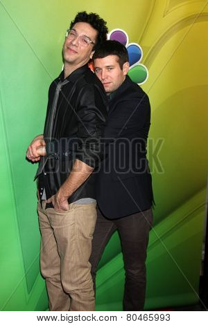 LOS ANGELES - DEC 16:  Rick Glassman, Brent Morin at the NBCUniversal TCA Press Tour at the Huntington Langham Hotel on January 16, 2015 in Pasadena, CA