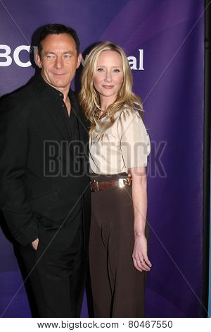 LOS ANGELES - JAN 15:  Jason Isaacs, Anne Heche at the NBCUniversal Cable TCA Winter 2015 at a The Langham Huntington Hotel on January 15, 2015 in Pasadena, CA