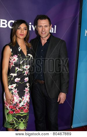LOS ANGELES - JAN 15:  Jessica Szohr, Jason O'Mara at the NBCUniversal Cable TCA Winter 2015 at a The Langham Huntington Hotel on January 15, 2015 in Pasadena, CA