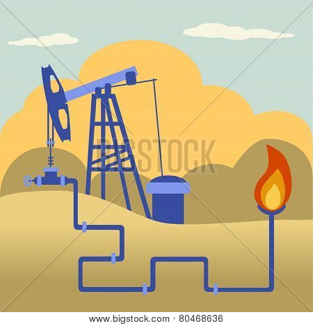 Oil And Gas Processing Plant And Fire