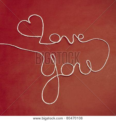 Twine Yarn Love You