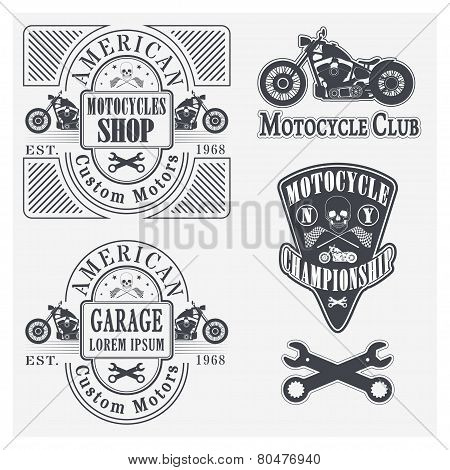 Motorcycle labels