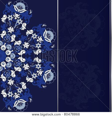 Ornamental round floral pattern.