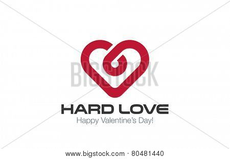 Heart Logo vector design template. Infinite Love concept. Infinity Healthy Heart Cardiology idea Logotype.