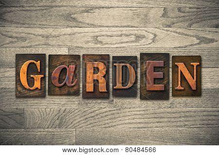 Garden Wooden Letterpress Concept
