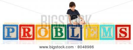 Boy And Alphabet Blocks Problems