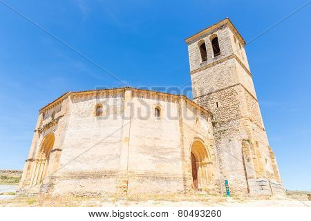 Veracruz medieval church, ancient templar church in Segovia, Spain.