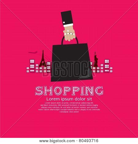 Worldwide Shopping Tourist Concept.