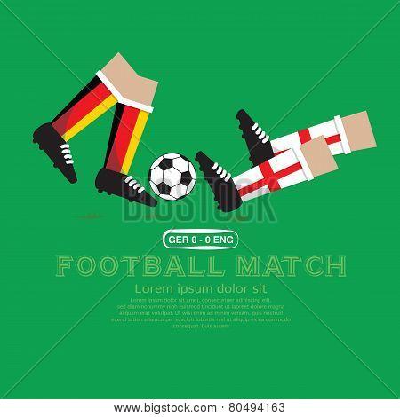 Football Match Vector Illustration.