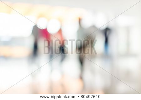 Abstract defocused image of business people