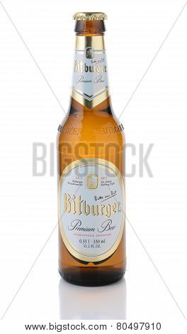Bitburger Beer Isolated On White