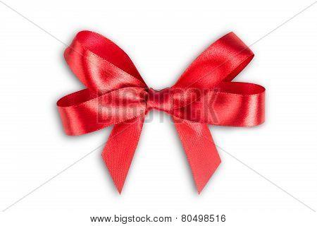 Red Ribbon Satin