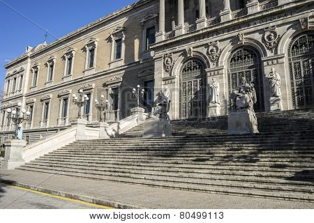National Library of Madrid, Spain. architecture and art