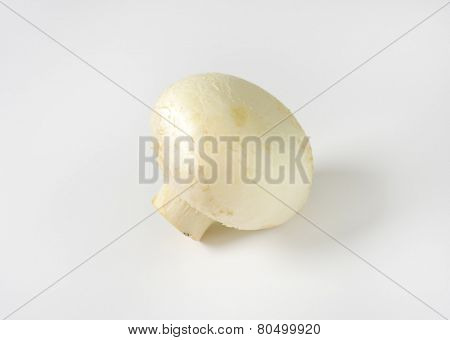 fresh unpeeled champignon mushroom
