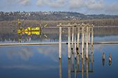picture of dredge  - Dredging boats in the Columbia River Oregon - JPG
