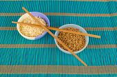 image of citronella  - Dried lemon grass and coriander seeds aromatic condiments - JPG
