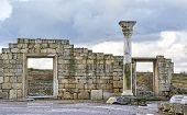 stock photo of greeks  - Ruins of an Ancient Greek temple in Chersonese - JPG