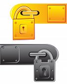 picture of outboard  - Vector illustration of the outboard lock on white background - JPG
