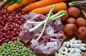 picture of raw materials  - Vietnamese food vegetable soup fresh ingredients - JPG