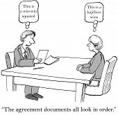 image of negotiating  - The contract negotiations have turned into a big win for both companies - JPG