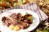 foto of flank steak  - grilled steak - JPG
