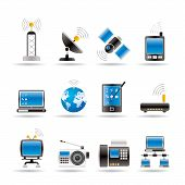 foto of televisor  - communication and technology icons  - JPG