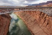 picture of southwest  - Navajo Bridge over Colorado river in Marble canyon - JPG