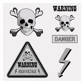 picture of skull crossbones  - Warning signs symbols - JPG