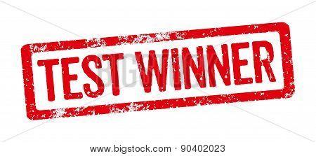 Red Stamp - Test Winner