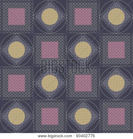Abstract graphic background. Seamless pattern.