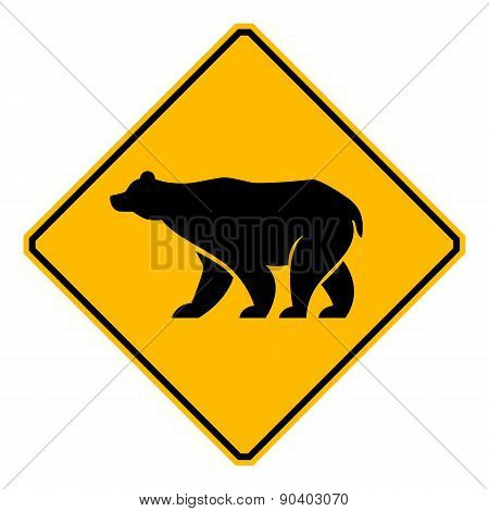 traffic sign wildlife bear