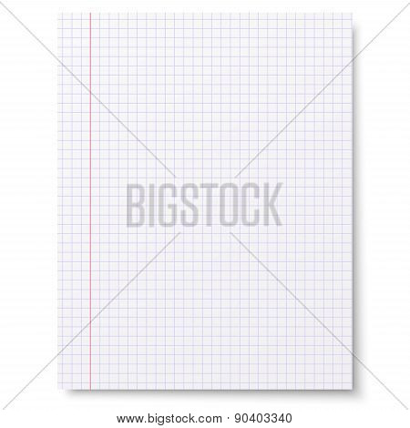 Notebook Squared Paper Background