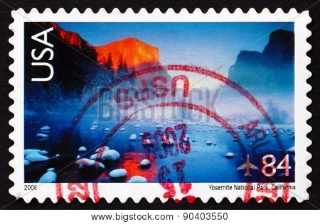 Postage Stamp Usa 2006 Yosemite National Park, California
