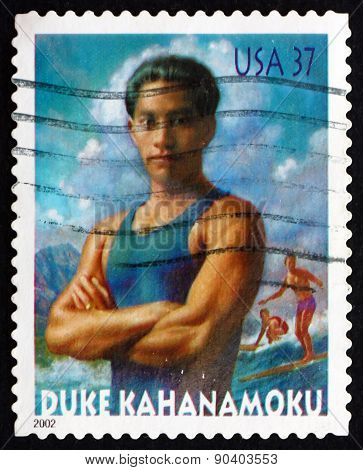 Postage Stamp Usa 2002 Duke Kahanamoku, Swimmer