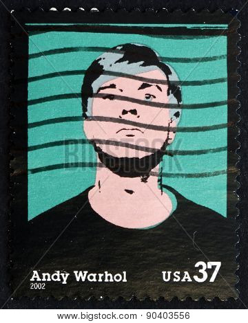 Postage Stamp Usa 2002 Andy Warhol, American Artist