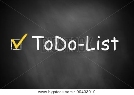 Black Chalkboard Todo List Checkbox Checked