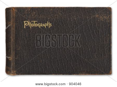 Vintage Photo Album Isolated On White