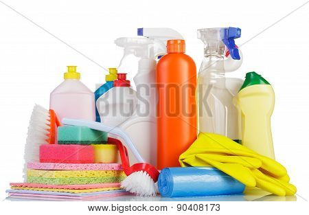 The cleaning products